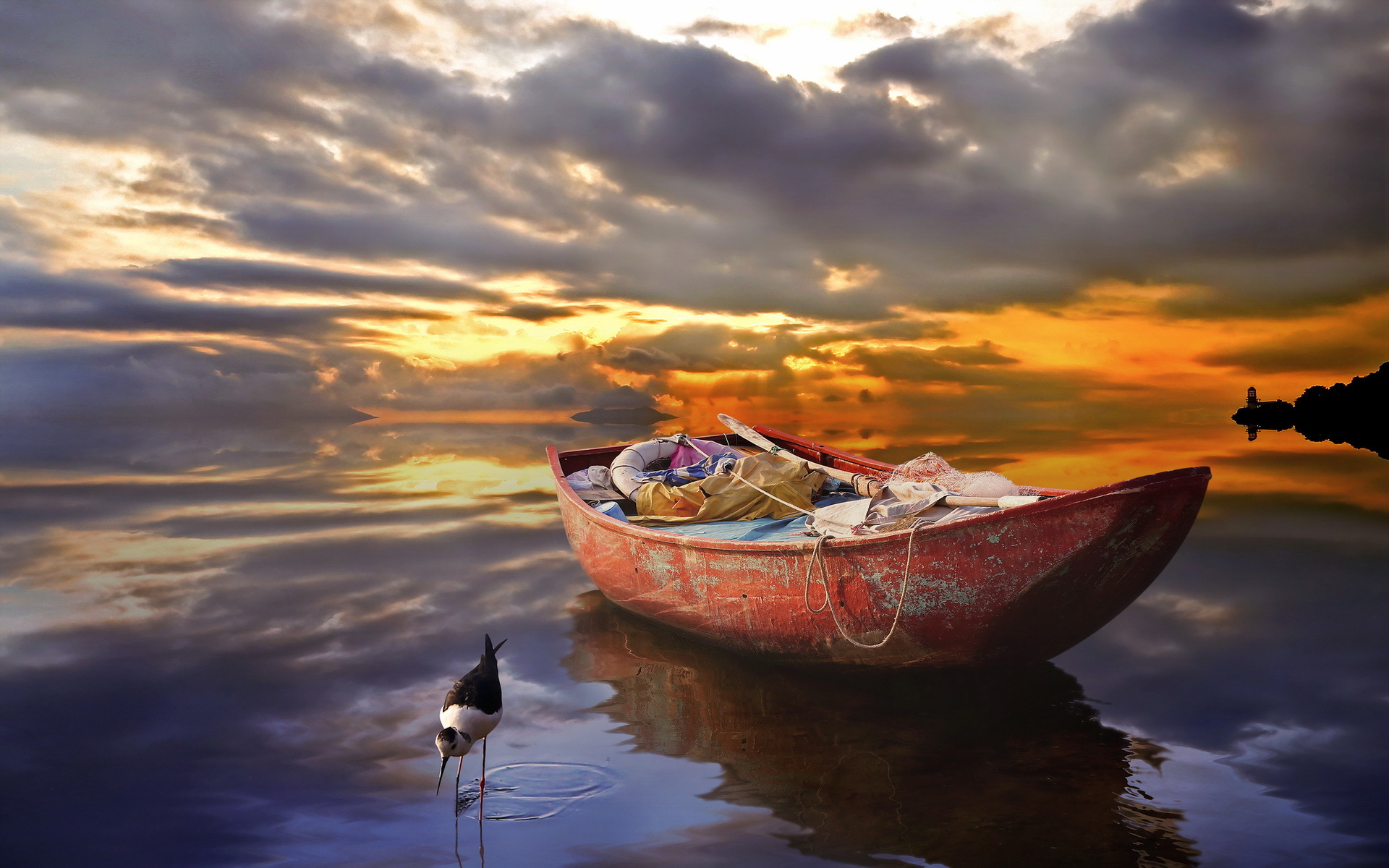 Boat And Ocean Wallpaper Desktop Wallpaper WallpaperLepi 1920x1200
