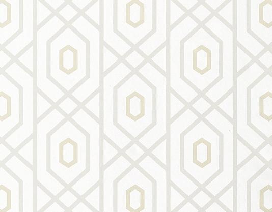 Prescott Wallpaper A geometric wallpaper with a large trellis design 534x417
