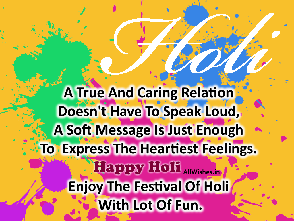 Happy Holi Picture Holi Wallpaper In English With Wishes And 1024x768