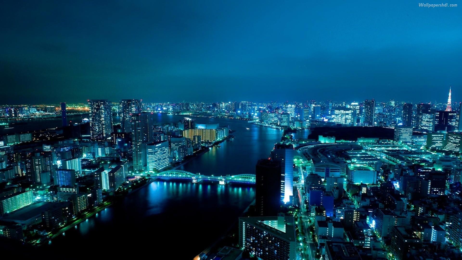 background blue tokyo 1920x1080 1920x1080