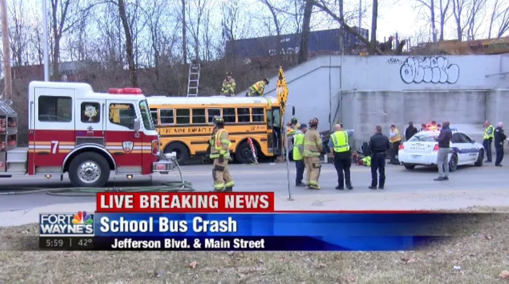 One person seriously hurt when FWCS bus two other vehicles 1024x572