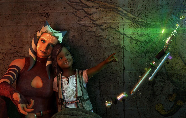 Wallpaper rendering girl alien star wars ahsoka tano images 1332x850
