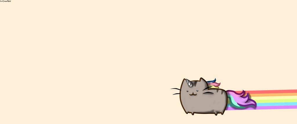Pusheen Cat Wallpaper by LeChicoMess 1024x427