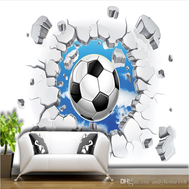 Wholesale 3D Soccer Wallpaper Sport Background Mural Living Room 750x750
