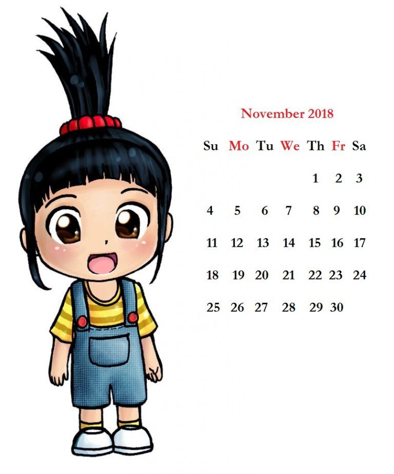 Clipart Calendar November 2019 Photo Calendar Printable 768x924