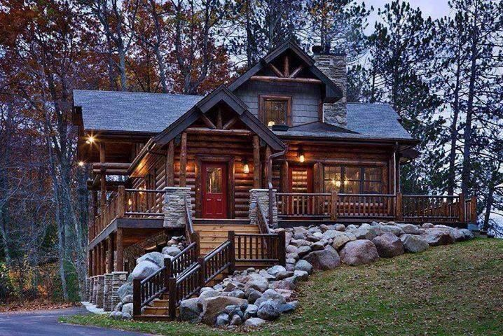 Beautiful log cabin home my wish list Pinterest 718x480