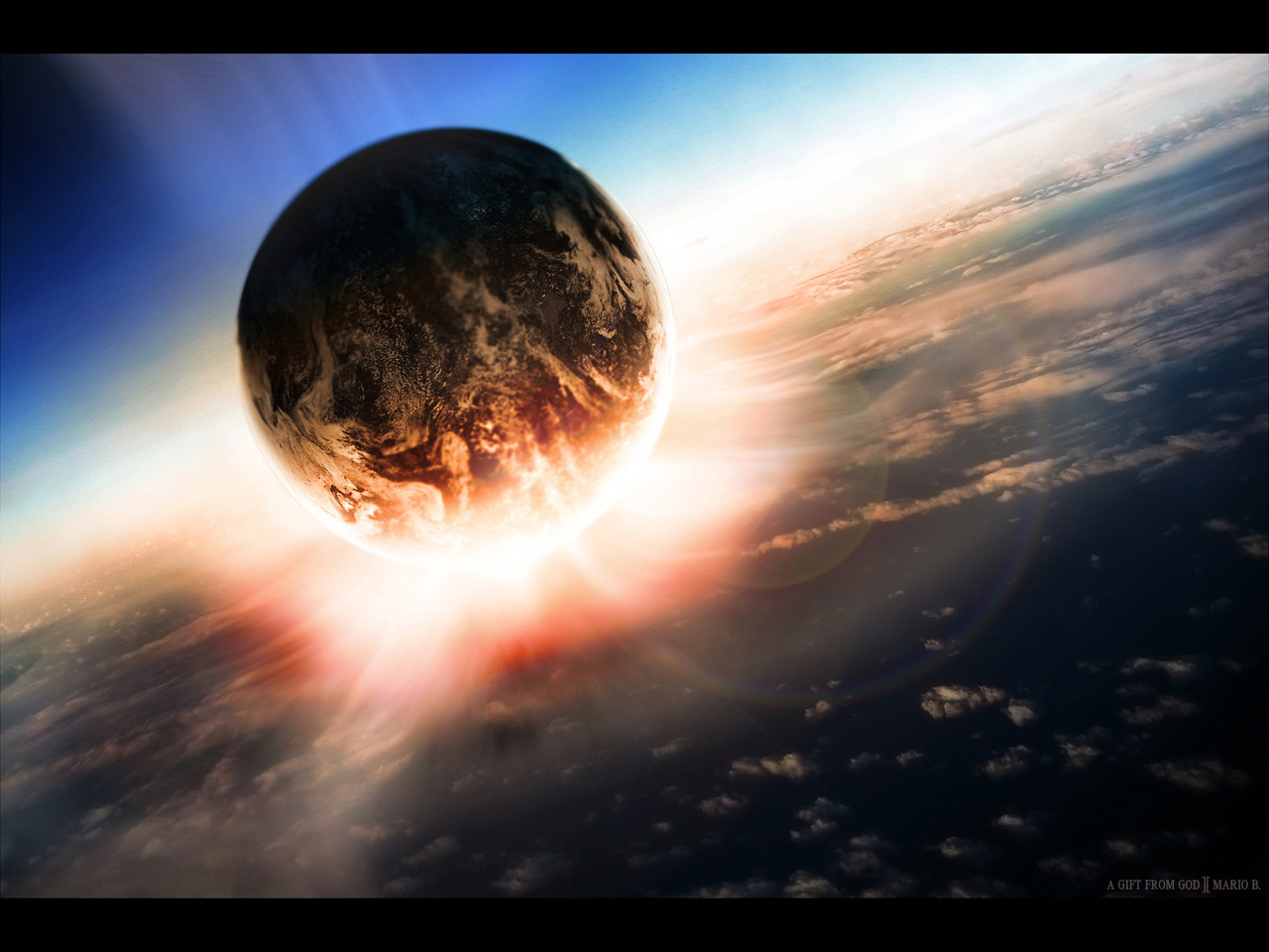 Cool Wallpapers 3d planets background 1280x960