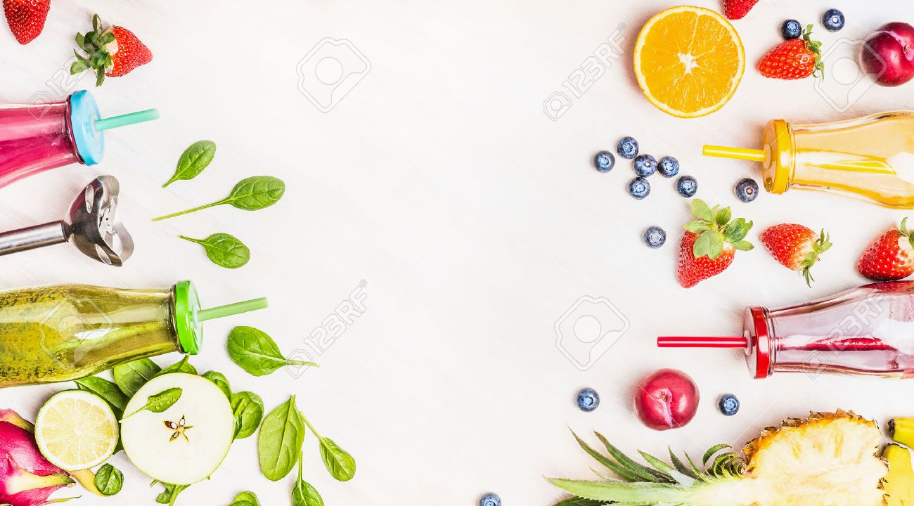 Healthy Lifestyle Background With Various Colorful Smoothie Drinks 1300x720