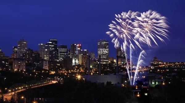 Fireworks Canada Alberta Edmonton 1920x1080 Wallpaper Nation HD 600x337