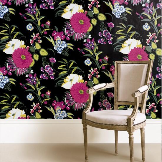 Wallpaper   Black floral   BQ Wallpaper under 30 Decorating 550x550