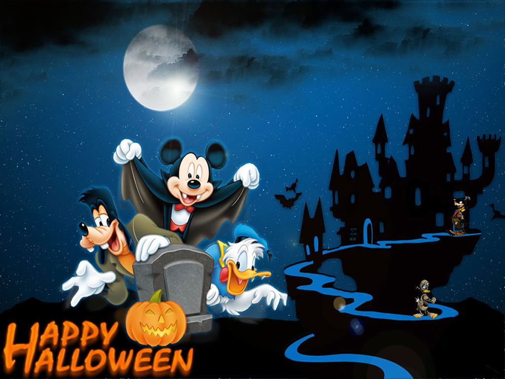 download Happy Halloween Disney Desktop Wallpaper [1024x768 1024x768