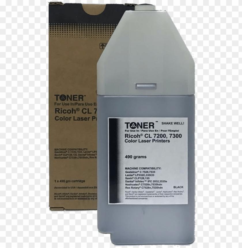 ricoh toner cartridge rhtcl7300bk   bottle PNG image with 840x859