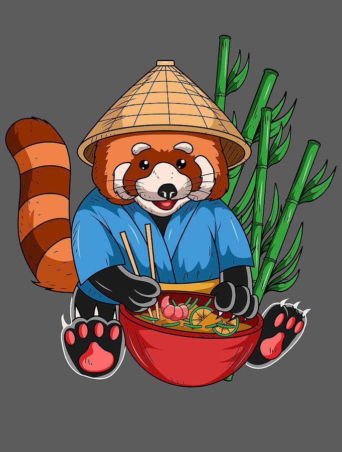Red Panda For Men Women Kids   Ramen Cook Ramen Racoon 682x900