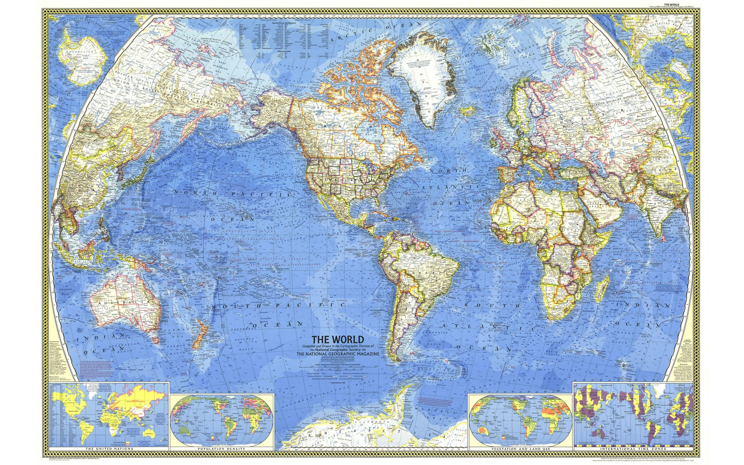 Free Download National Geographic World Map Wallpaper 1103463