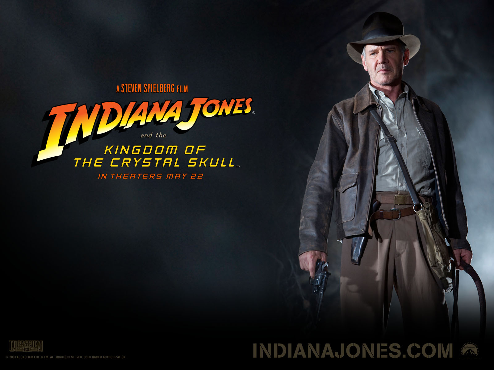 Harrison Ford   Harrison Ford in Indiana Jones and the Kingdom of 1600x1200