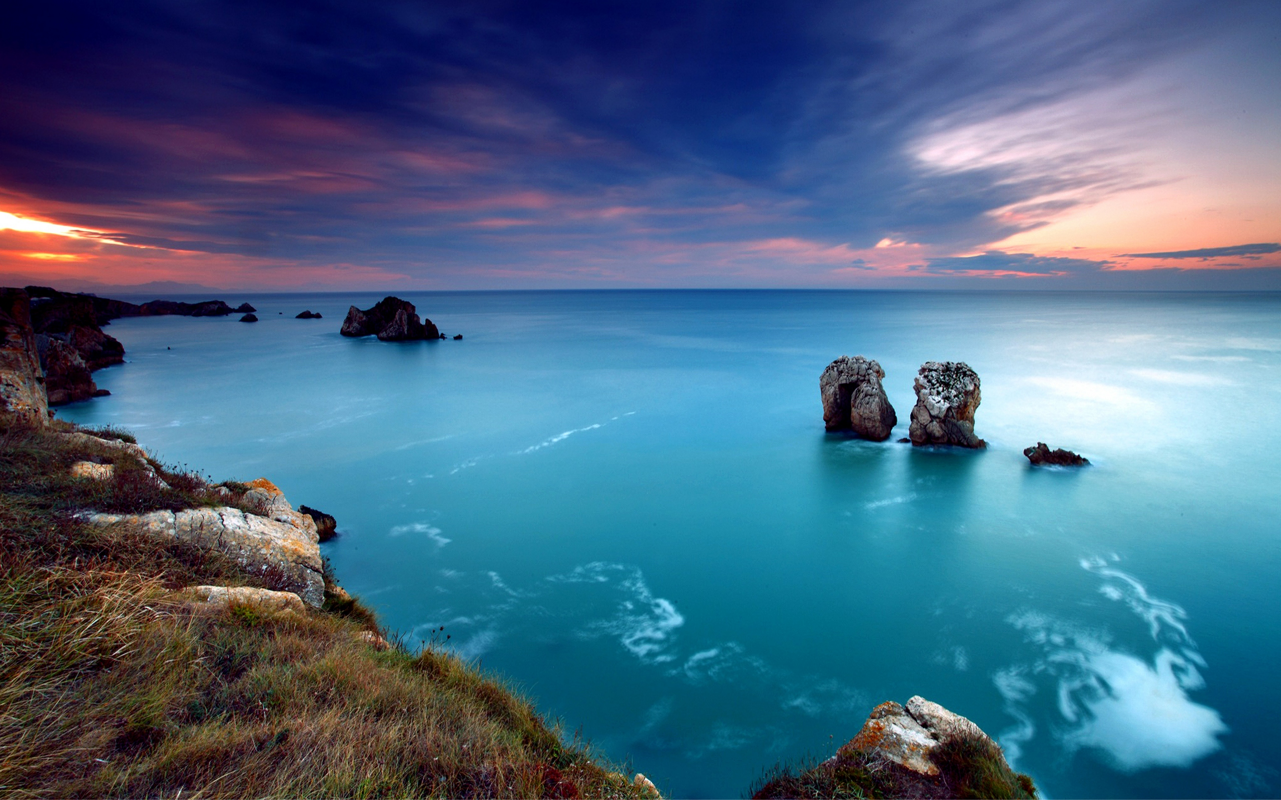 ocean sky 25601600 wallpaper beautiful ocean sunset Beautiful 2560x1600