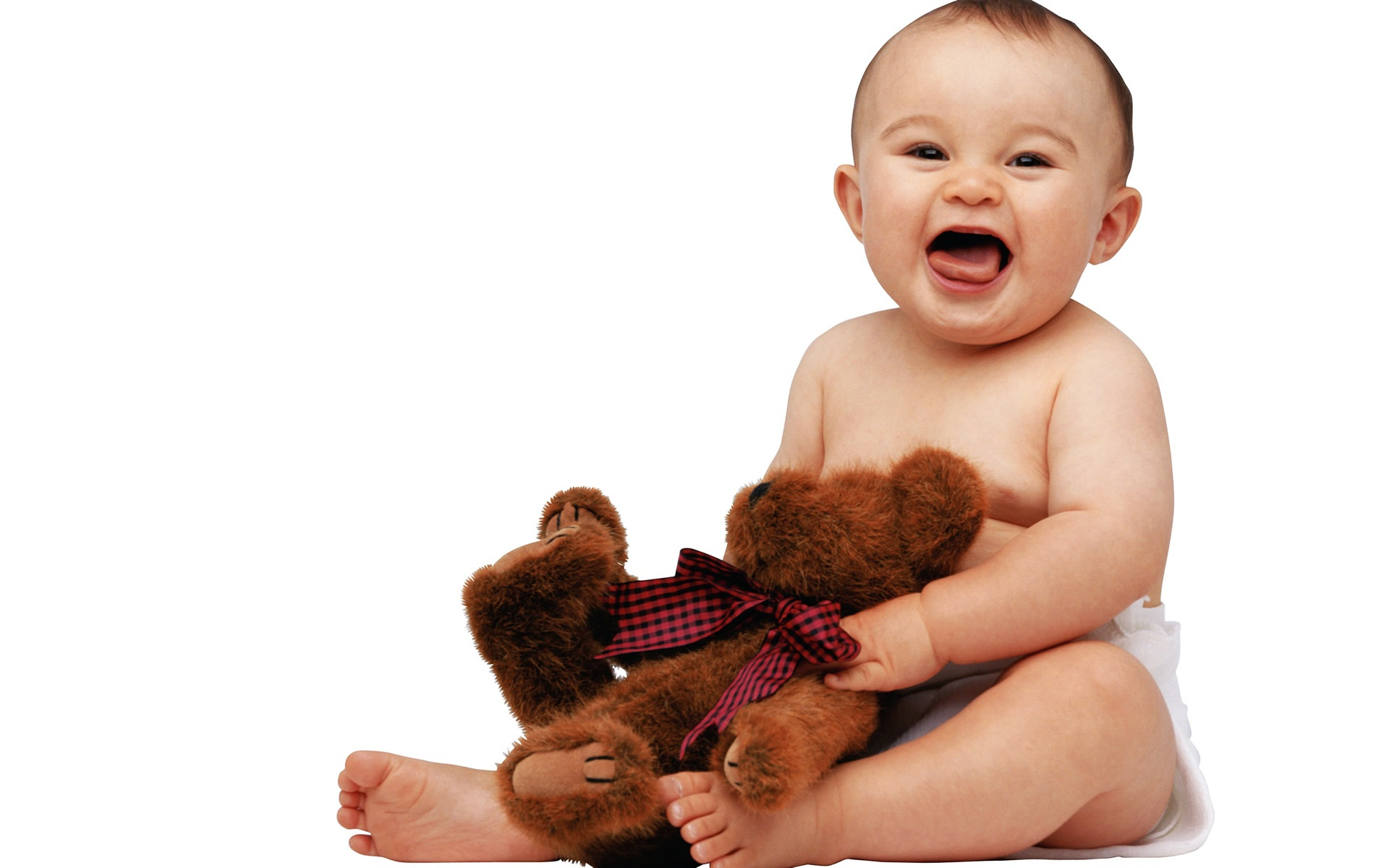 Cute Baby with Teddy Wallpapers HD Wallpapers 1920x1200