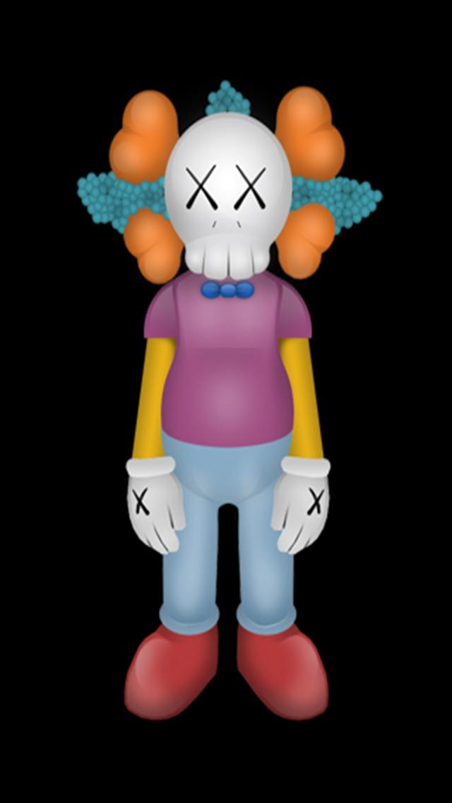Kaws iPhone Krusty HD iPhone Wallpapers iPhone 5s4s3G 640x1136