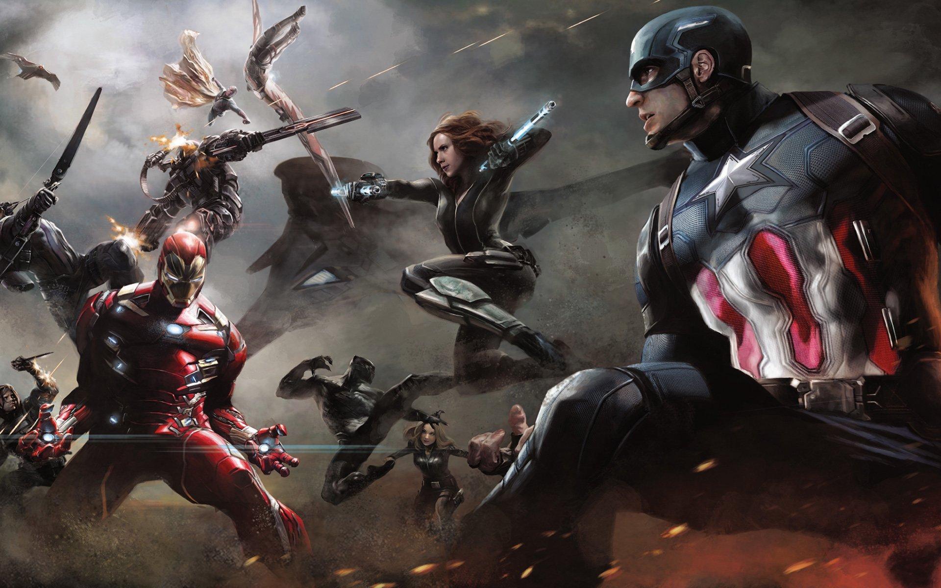 Artwork Captain America Civil War Wallpaper 1920x1200