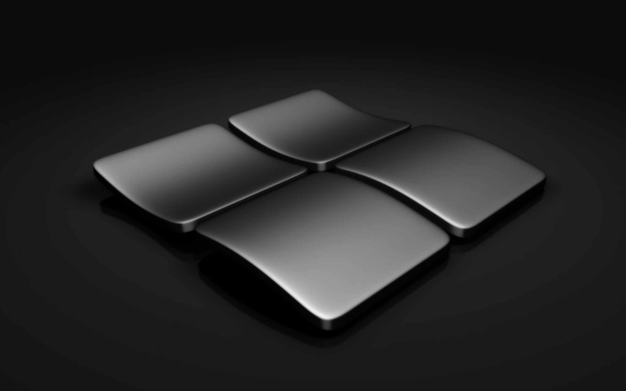 Microsoft Windows 10 Wallpaper Black Logo View HD 2560x1600