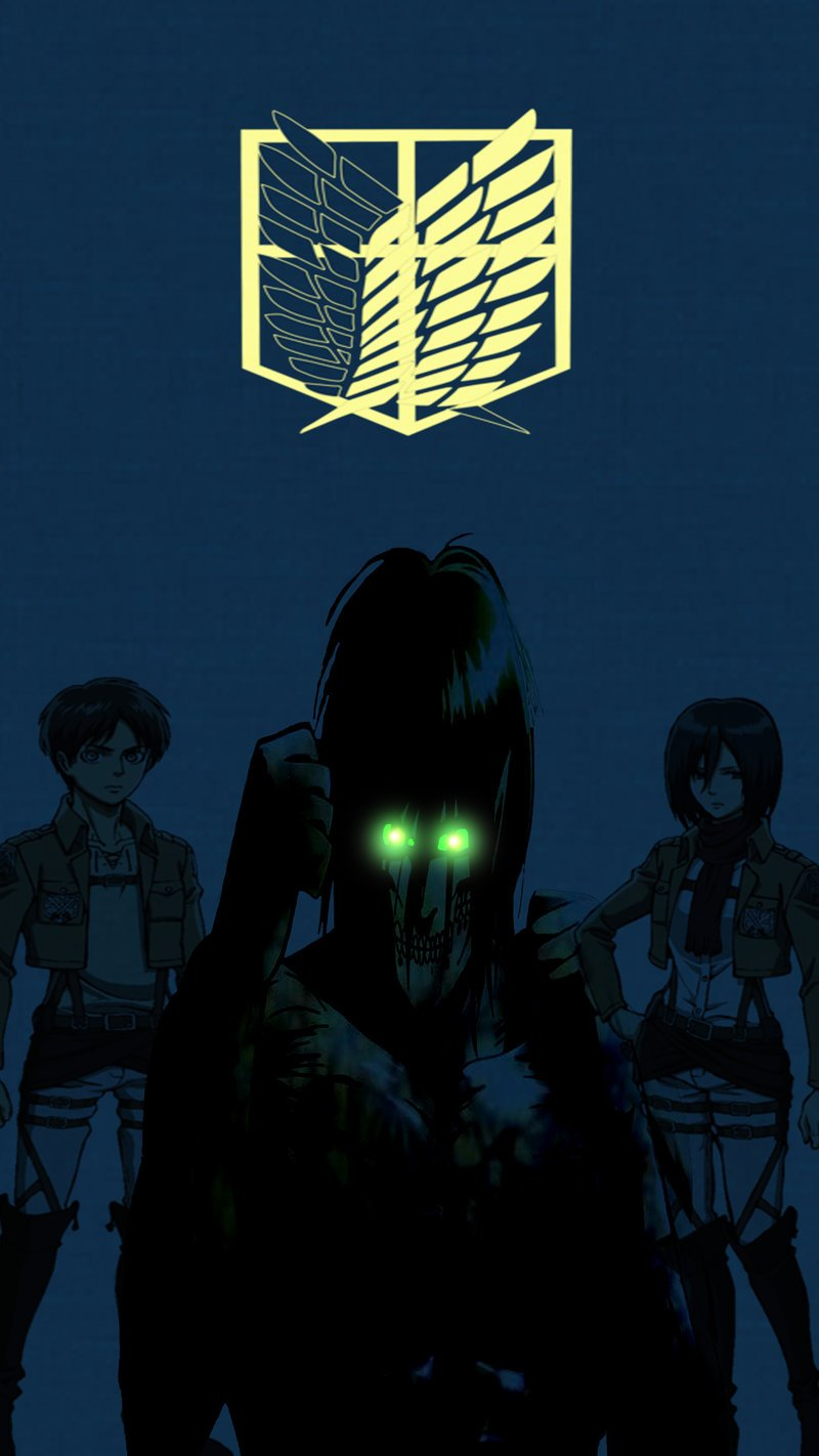 Attack on titan phone wallpaper by DarkTimePlay 800x1422