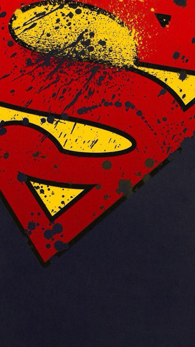 Free Download Grunge Superman Logo Wallpaper Iphone