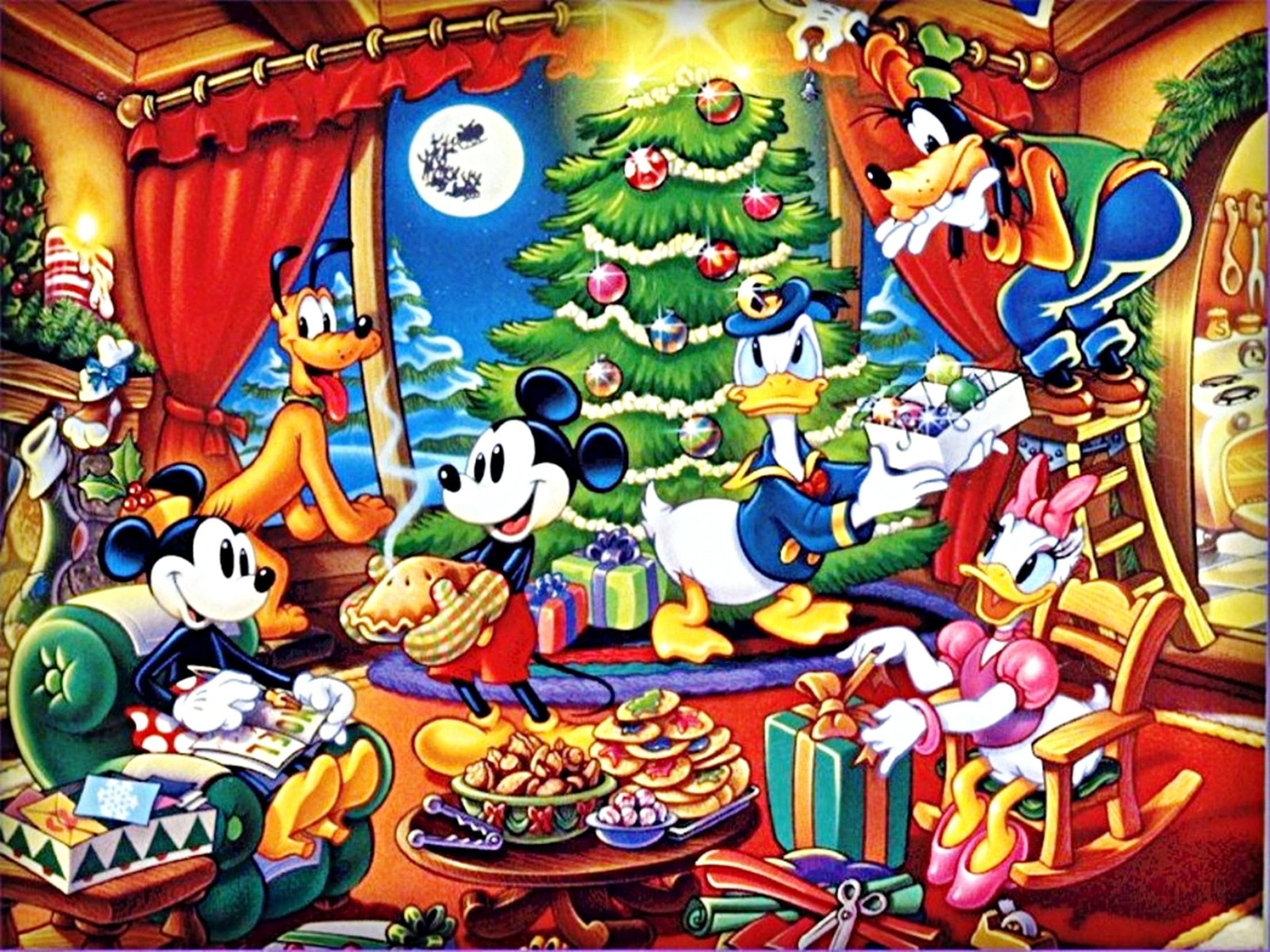 Disney Wallpapers The Disney Gang Christmas walt disney characters 2212x1659