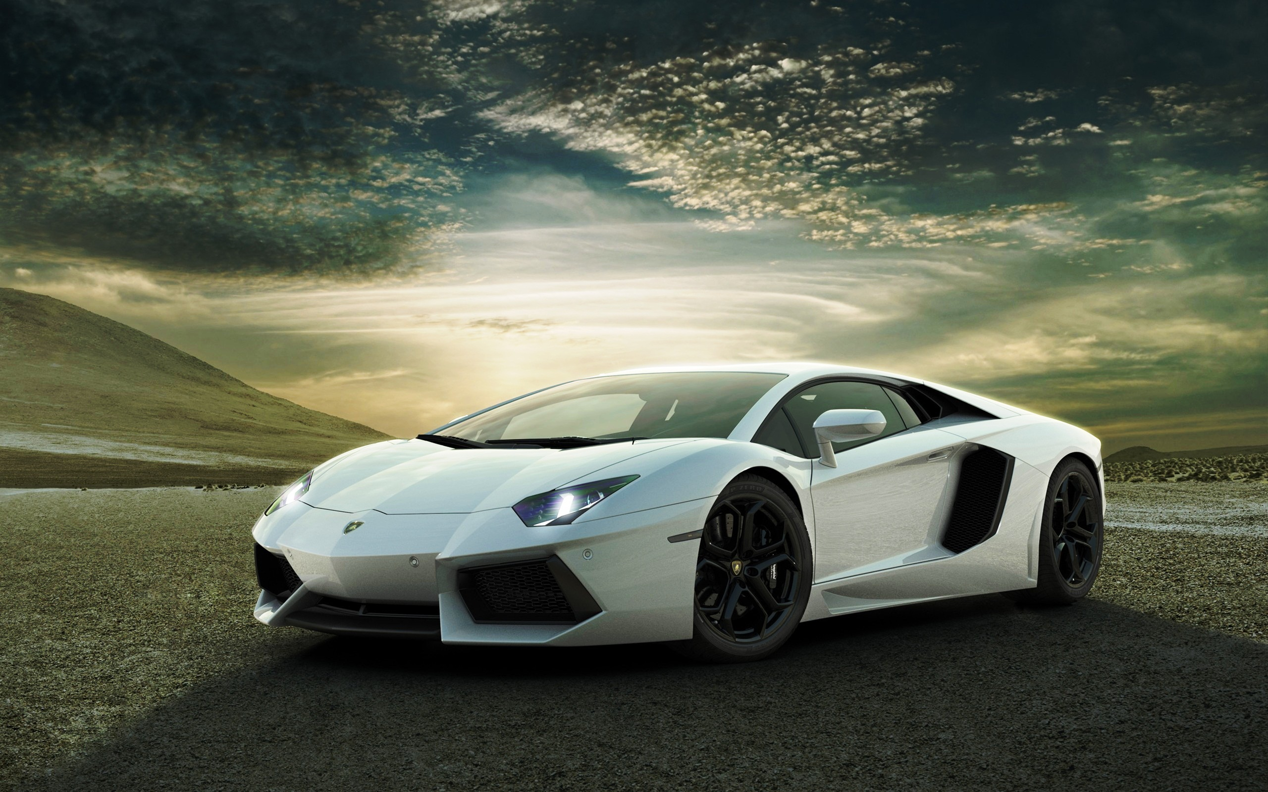 White Lamborghini Aventador Wallpapers HD Wallpapers 2560x1600