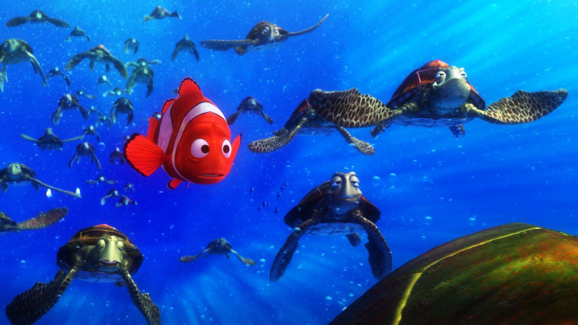 Wallpaper iphone nemo - Finding Nemo Animation Underwater Sea Ocean Tropical Fish Adventure