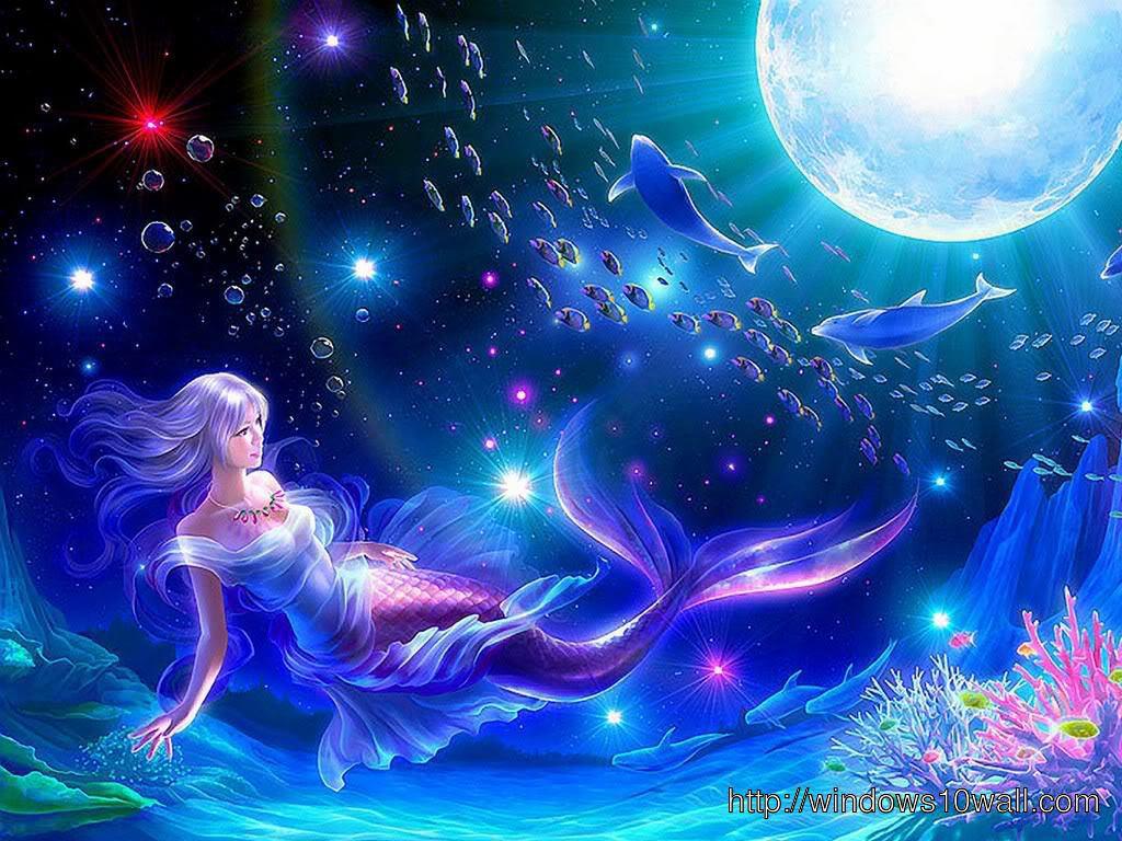 animated mermaid wallpaper animated mermaid wallpaper download this 1024x768