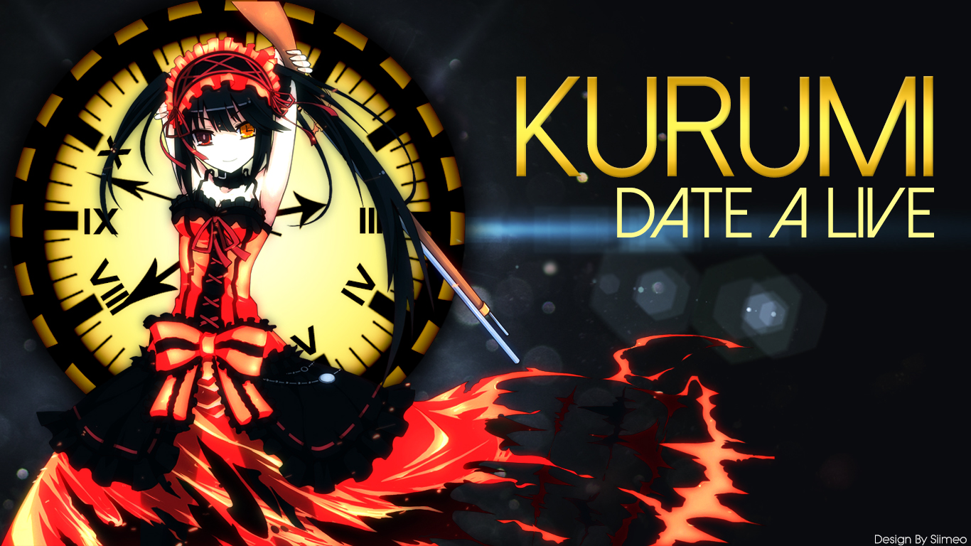 Kurumi   Date a Live Wallpaper by Siimeo 1366x768