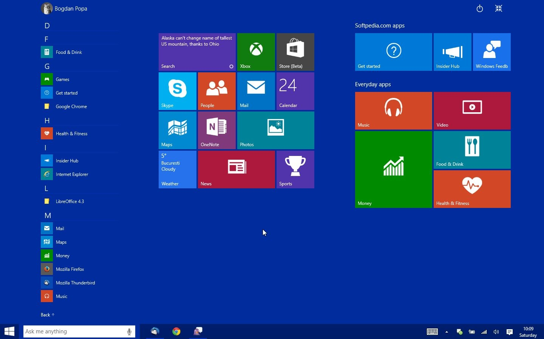 This Is the New Windows 10 Start Menu Start Screen 471079 10jpg 1440x900