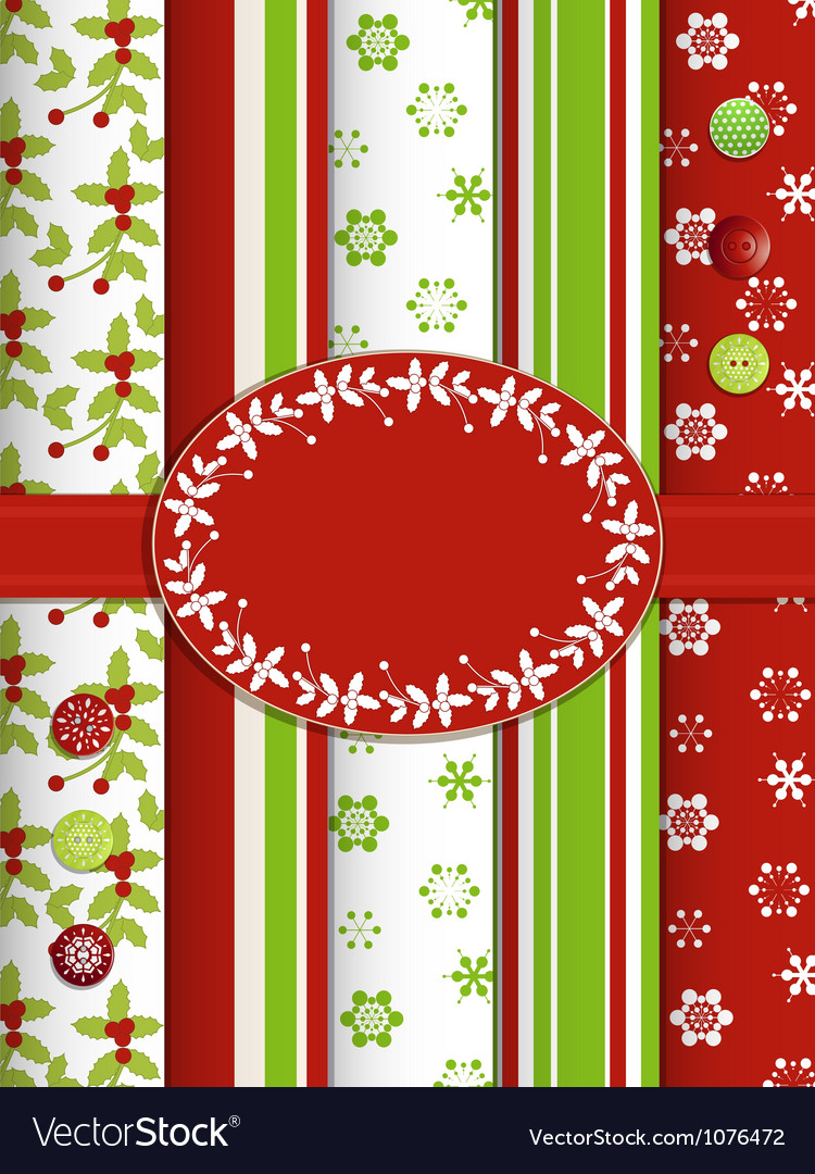 Christmas scrap book background with ribbon and bo 750x1080