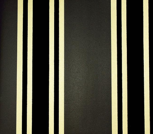 Flock Wallpaper Charcoal and gold stripe with flock stripe in black 534x469