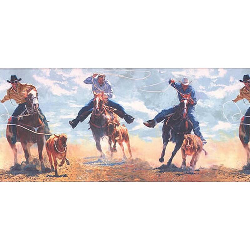 Wallpaper Border Western Cowboy Rodeo Border 800x800