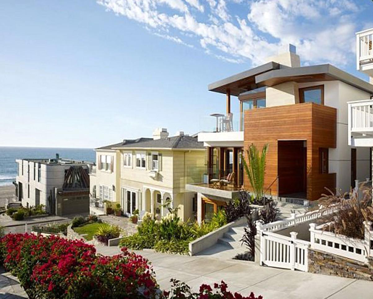 Beautiful Beach House Design In California Wallpaper 1203x963