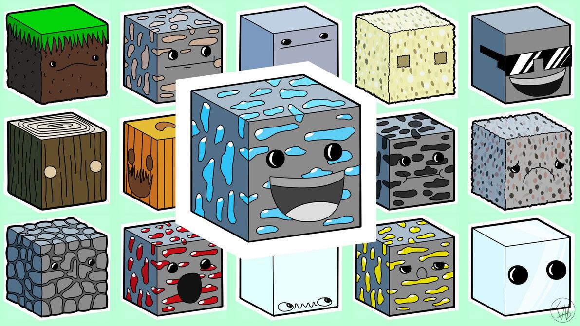 blocks Minecraft wallpaper by IshmanAllenLitchmore 1191x670