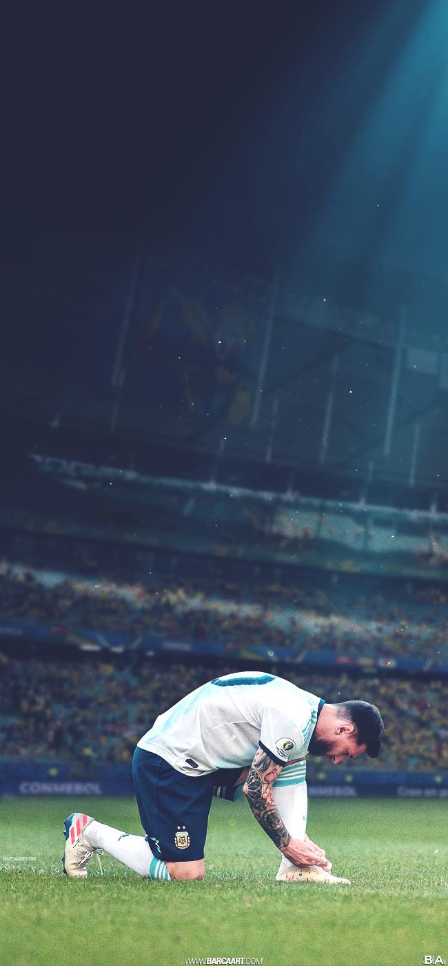 Lionel Messi barcaart 650x1400