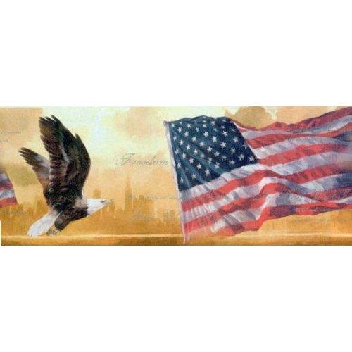 American Flag and Eagle Wallpaper Border 500x500