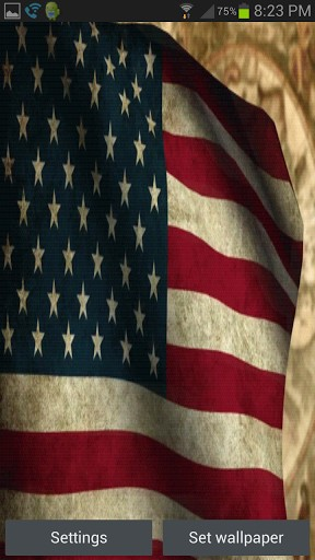 View bigger   American Flag Live Wallpaper for Android screenshot 288x512