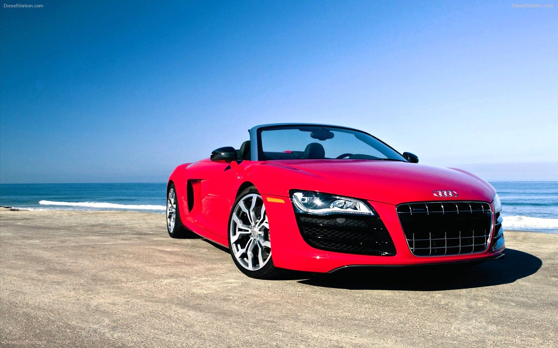 Red Audi R8 GT in Beach Car Wallpapers HD Wallpapers 1920x1200