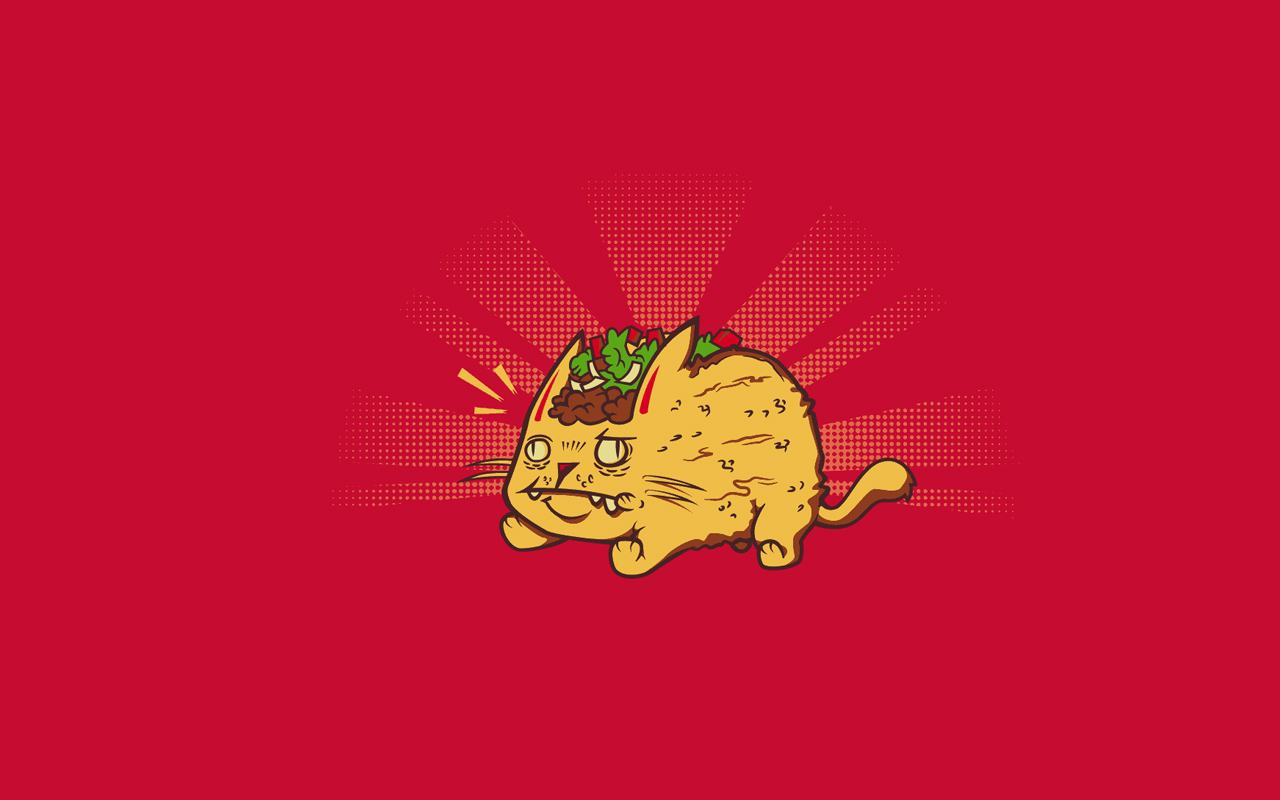 Wallpapers Backgrounds   Sharenator simple funny wallpapers taco cat 1280x800