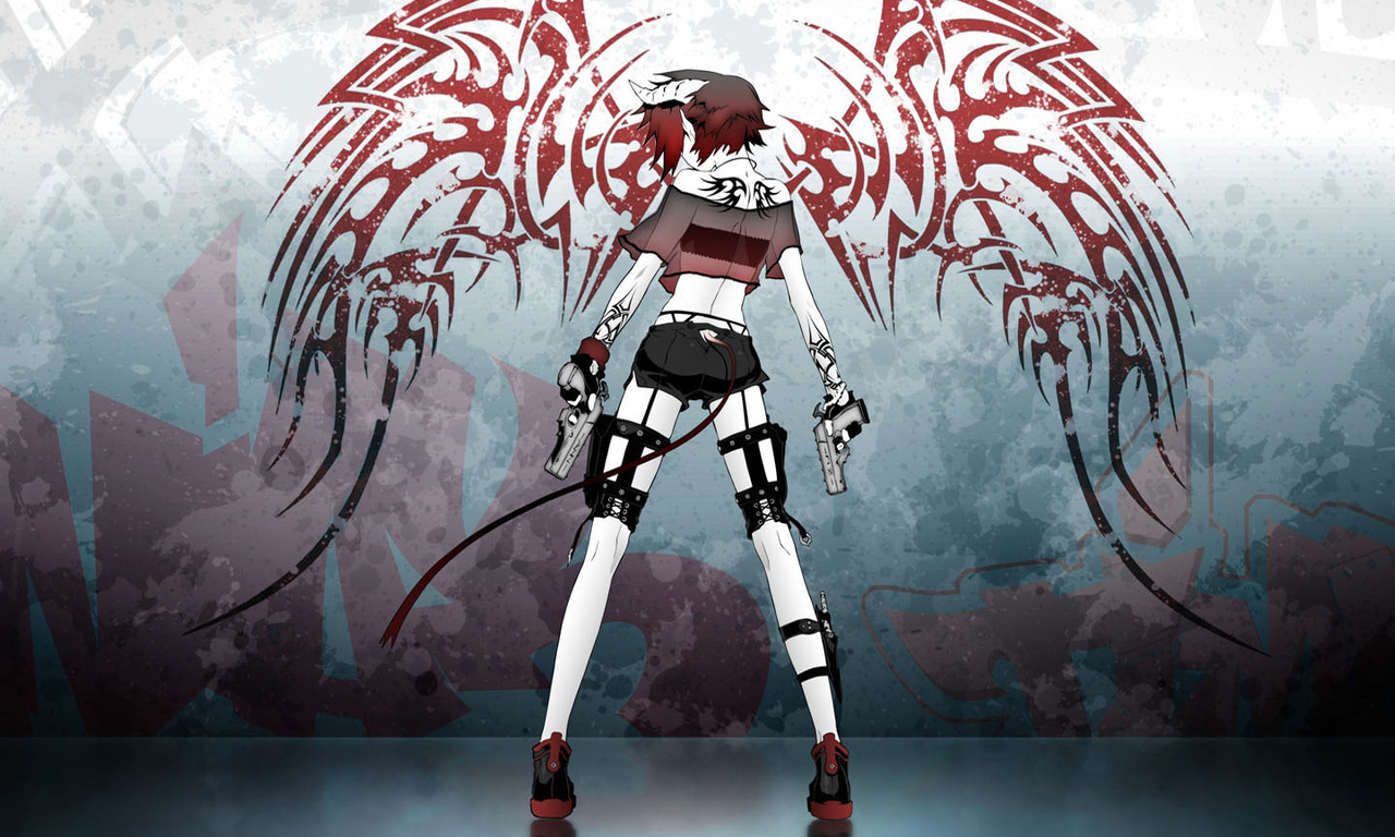 Anime Girl Demon Hd A Devil Wings 412837 With Resolutions 1280768 1280x768