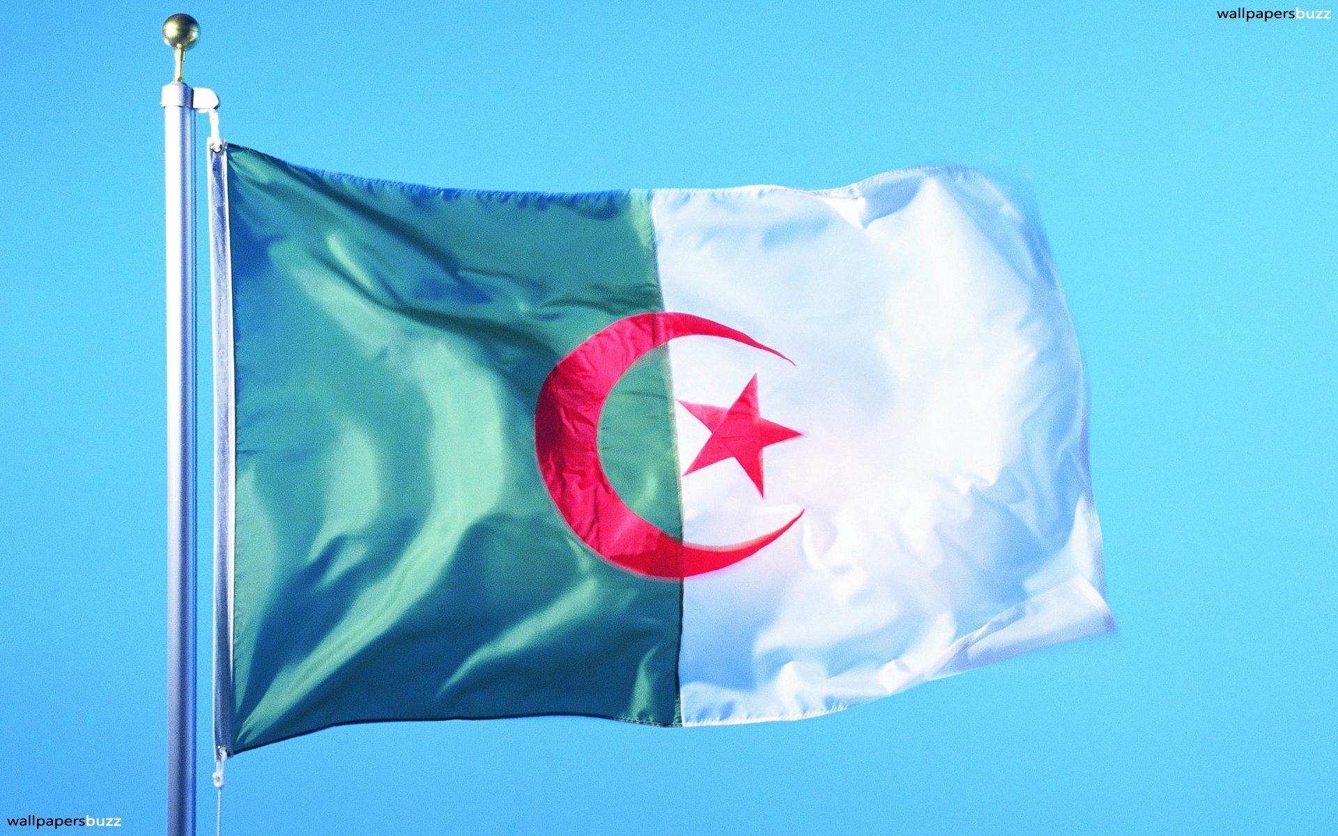 The flag of Algeria HD Wallpaper 1920x1200