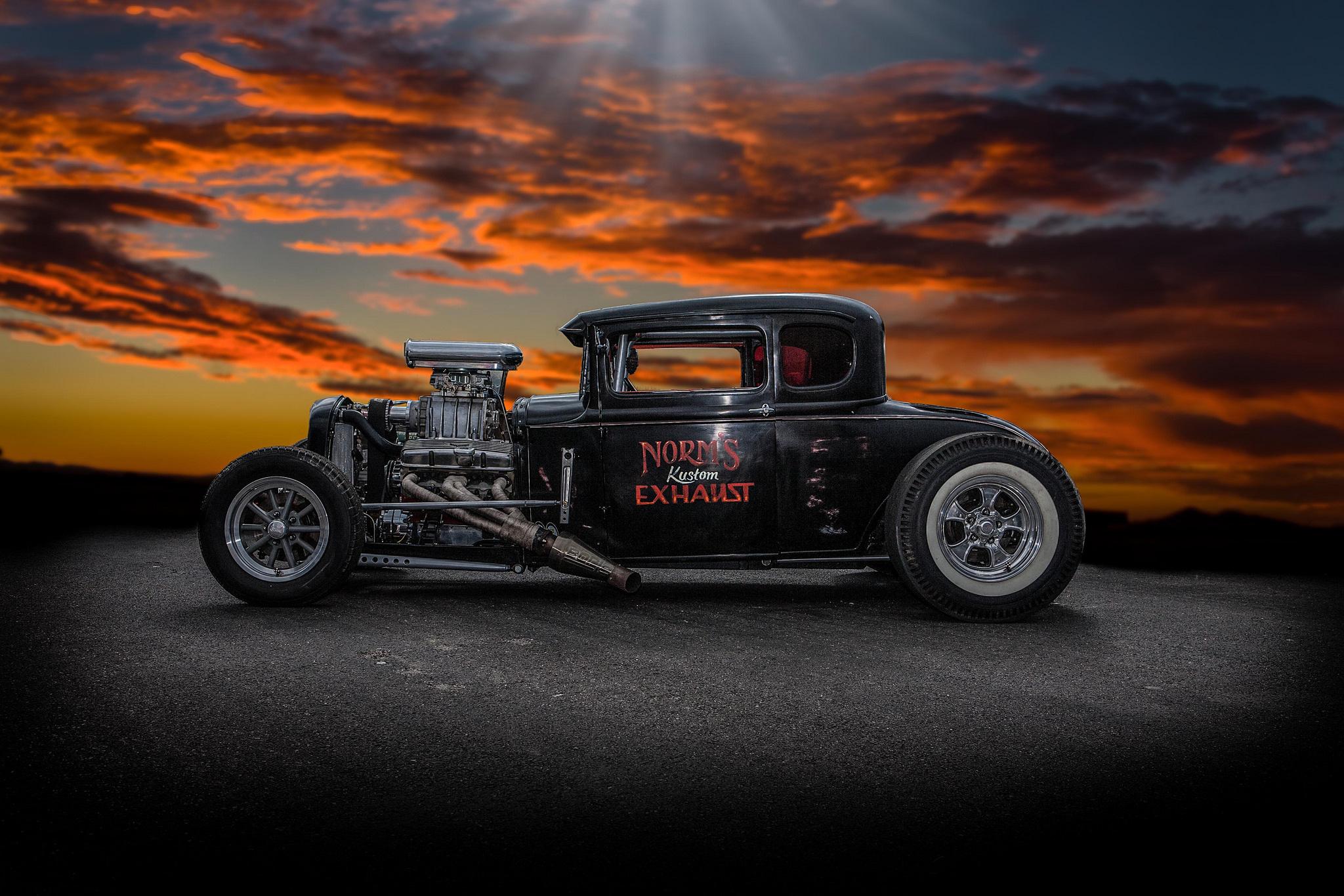 Hot rod classic car classic retro background wallpaper photos 2048x1365