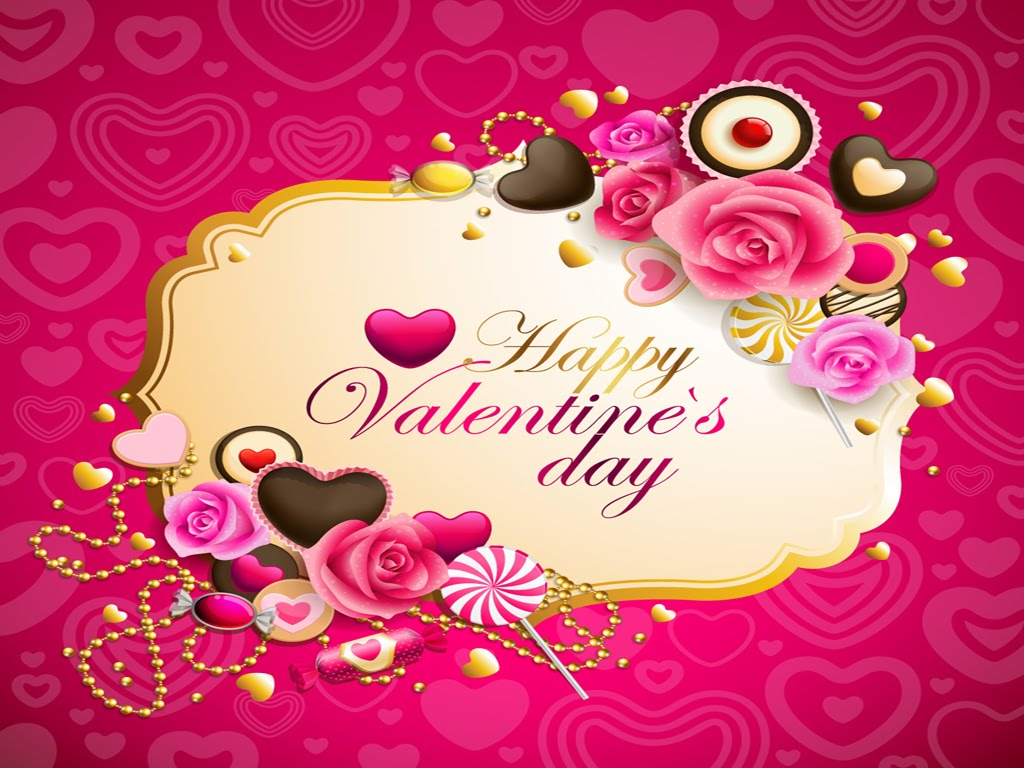 Cute Valentines Day Backgrounds 1024x768