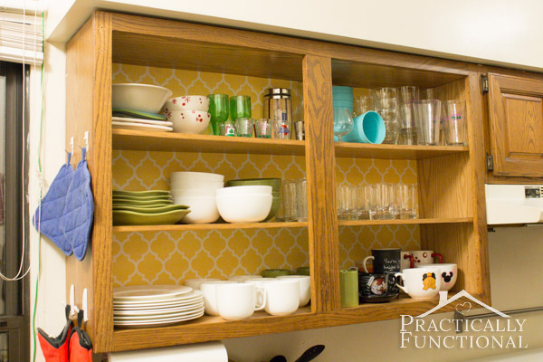 Update Your Rental Kitchen Cabinets With Wallpaper 600x400