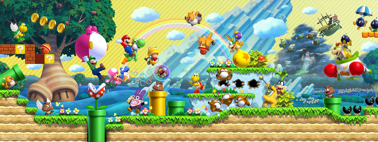 New Super Mario Bros U Deluxe Wallpaper by Joshuat1306 1280x480