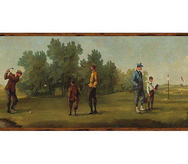 Erik Palmer Brown Wallpaper: Golf Wallpaper Borders