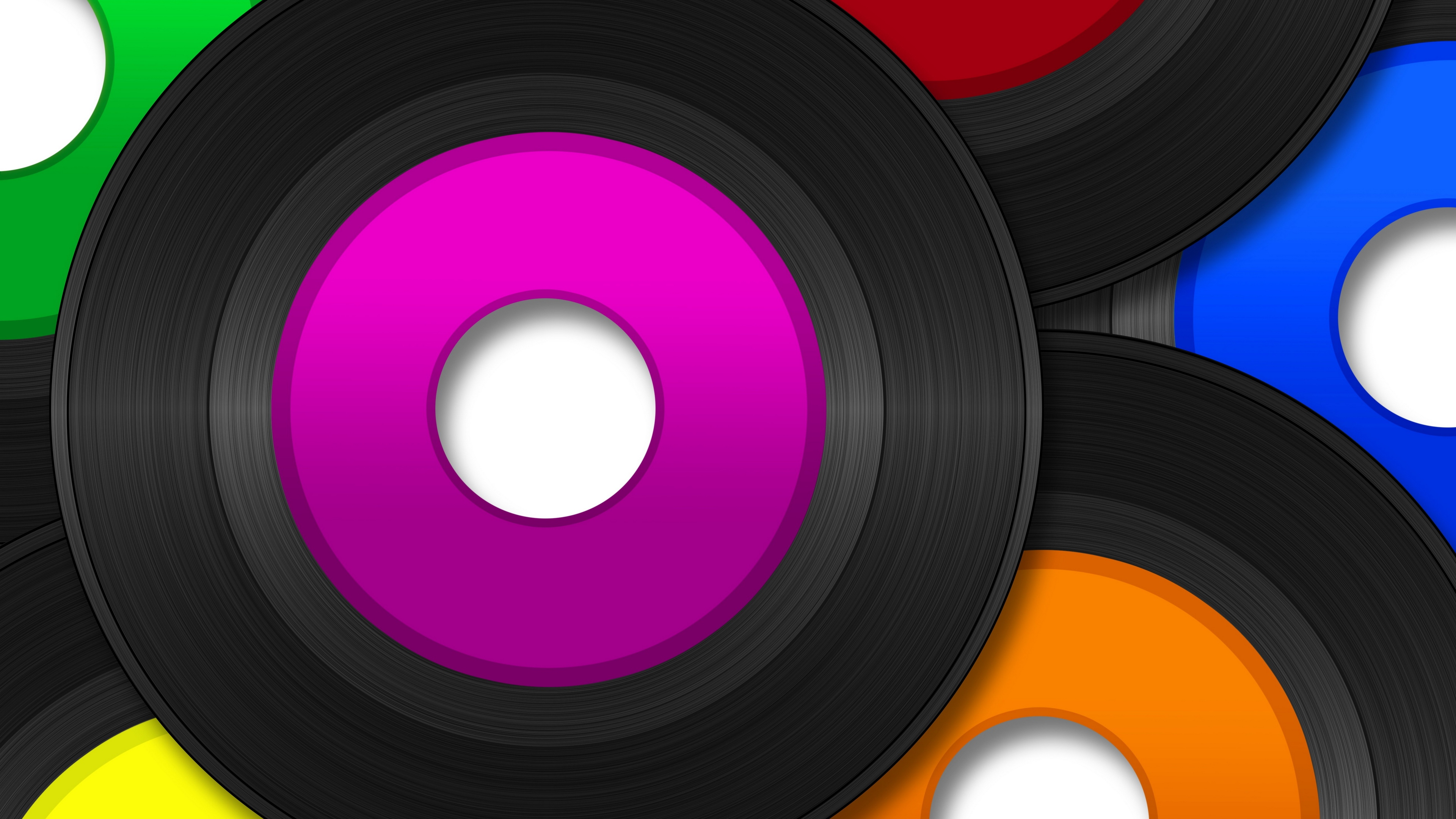 Download wallpaper 3840x2160 vinyl record music vector heap 4k 3840x2160
